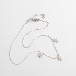 Henri Bendel Diamond star clavicle chain necklace